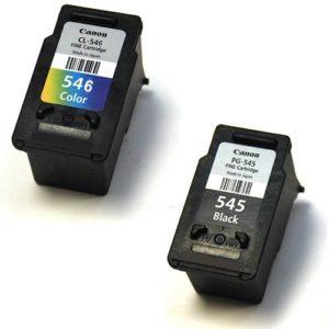 2 náplně - černá a barevná. Canon PG-545, CL-546